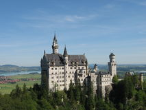 Neuschwanstein. Castle in the German Alps Royalty Free Stock Photo