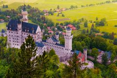 Neuschwanstein from above Royalty Free Stock Photo