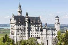 Neuschwanstein above the surrounding country Royalty Free Stock Image