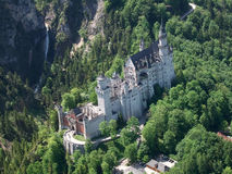 Neuschwanstein. Birds-eye view Stock Photography