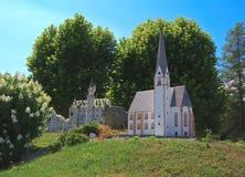 Neuschwanstein Castle και εκκλησία του ST Vincenz Στοκ Φωτογραφία