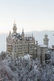 Neuschwanstein Castle στο χειμερινό τοπίο Στοκ Εικόνες