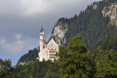 Neuschwanstein Castle. Situated in the Bavarian Alps royalty free stock photos