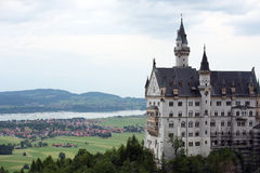Neuschwanstein Castle. Royal palace in the Bavarian Alps of Germany, the most famous of three royal palaces built for Ludwig II of Bavaria, sometimes referred stock image