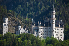 Neuschwanstein Castle. Schloss Neuschwanstein, in German, the palace was commissioned in the 19 th century by Ludwig II of Bavaria as a retreat. It is said to be Stock Images