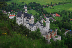 Neuschwanstein Castle. View of Neuschwanstein castle from above with no tourists Royalty Free Stock Photo