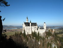 Neuschwanstein Castle. In Bavaria, the famous castle of the fairy-tale king Ludwig II stock photo