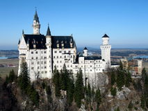 Neuschwanstein Castle. In Bavaria, the famous castle of the fairy-tale king Ludwig II royalty free stock photo