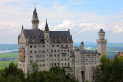 Neuschwanstein castle. The neuschwanstein castle in the 2011 summer Royalty Free Stock Image