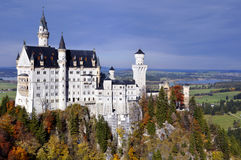 Neuschwanstein castle. The Neuschwanstein Castle in Bavaria, nearly to Munich - Germany Royalty Free Stock Photography