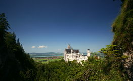 Neuschwanstein Castle. King Ludwig II's Neuschwanstein (ferrytale) Castle near Fuessen, Bavaria. The structure, an anachronism in stone, was built in the second royalty free stock images