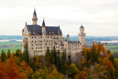 Neuschwanstein Castle. Or New Swan Stone, a dramatic Romanesque fortress with Byzantine, Romanesque and Gothic interiors, which was built high above his father