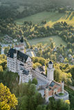 Neuschwanstein Castle from Above Royalty Free Stock Photography