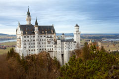 Neuschwanstein castle against Forggensee Royalty Free Stock Images