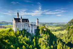 Neuschwanstein Castle in the Alps Royalty Free Stock Photo