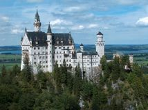 Neuschwanstein Castle. Castle Neuschwanstein, an architectural marvel of Germany, is considered the most often photographed building of the world. Though looking royalty free stock photography