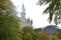 Neuschwanstein Castle in the autumn Stock Photos