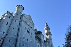 Neuschwanstein Castle in autumn, Bavaria, Germany. royalty free stock photos