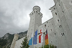 Neuschwanstein castle in Bavaria Stock Photos