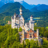 Neuschwanstein Castle, Bavaria, Germany. Beautiful view of world-famous Neuschwanstein Castle, the nineteenth-century Romanesque Revival palace built for King Royalty Free Stock Photos