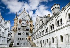 Neuschwanstein Castle, Bavaria, Germany. Neuschwanstein Castle. Nineteenth-century Romanesque Revival palace in southwest Bavaria, Germany, visited by 1 million Royalty Free Stock Photo