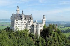Neuschwanstein Castle. In Bavaria, Germany. This is one of the castles built by King Ludwig II of Bavaria Royalty Free Stock Photos