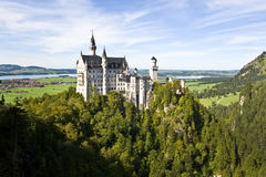 Neuschwanstein Castle, Bavaria Germany wide shot Royalty Free Stock Images