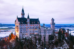 Neuschwanstein castle in Bavaria, Germany royalty free stock photos