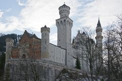 Neuschwanstein Castle in Bavaria Royalty Free Stock Photos