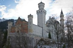 Neuschwanstein Castle in Bavaria Stock Image