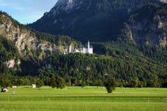 Neuschwanstein Castle in the Bavarian Alps Royalty Free Stock Photos