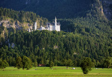 Neuschwanstein Castle in the Bavarian Alps Stock Image