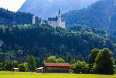 Neuschwanstein castle in Bavarian Alps, Royalty Free Stock Photos