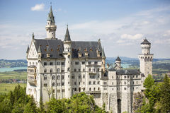 Neuschwanstein castle. Neuschwanstein castle in Bavarian alps, Germany Royalty Free Stock Images