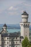 Neuschwanstein castle. Neuschwanstein castle in Bavarian alps, Germany Royalty Free Stock Photos