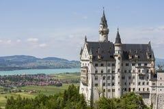 Neuschwanstein castle. Neuschwanstein castle in Bavarian alps, Germany Stock Photos