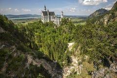 Neuschwanstein castle. Neuschwanstein castle in Bavarian alps, Germany Royalty Free Stock Photo