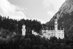 Neuschwanstein castle. Neuschwanstein castle in Bavarian alps, Germany Stock Image