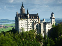 Neuschwanstein castle in Bavarian alps, Germany. View on Neuschwanstein castle, Bavaria Stock Photography