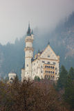 Neuschwanstein castle in Bavarian alps Stock Image