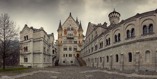 Neuschwanstein castle in Bavarian alps Stock Images
