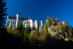 Neuschwanstein castle, bottom view Stock Photo