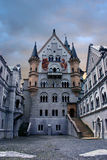 Neuschwanstein castle courtyard Stock Photos