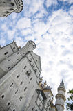 Neuschwanstein Castle courtyard, Nineteenth-century Romanesque Revival palace in southwest Bavaria, Germany. Stock Photography