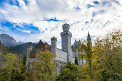 Neuschwanstein Castle. Evening at Castle Neuschwanstein, Germany Stock Image