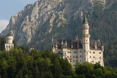 Neuschwanstein Castle or the fairytale in Bavaria (Germany) Royalty Free Stock Image