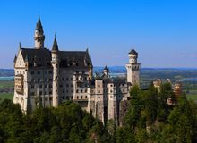 Neuschwanstein Castle, the Fairytale Castle, in Southern Germay royalty free stock images