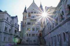 Neuschwanstein Castle. Famous fairytale castle in Bavaria Royalty Free Stock Images