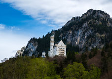 Neuschwanstein castle, the famous tourist attraction in Fussen, Stock Photography