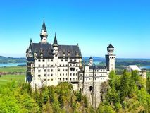 Neuschwanstein castle. The famous castle in whole europe. only in MUnich Germany Stock Photos